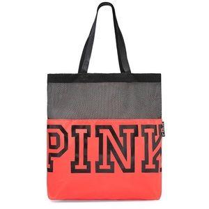 NWT✨ Victoria's Secret PINK Mesh Tote Gym Book Bag